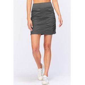 XCVI Ruched Skirt Core Wearables The Trace Grey
